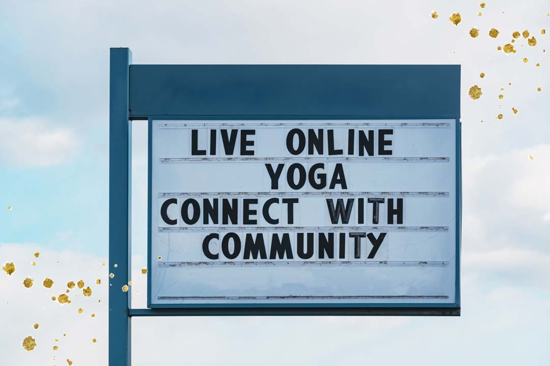 Live online yoga connect with community